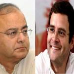 Arun Jaitley and Rahul Gandhi