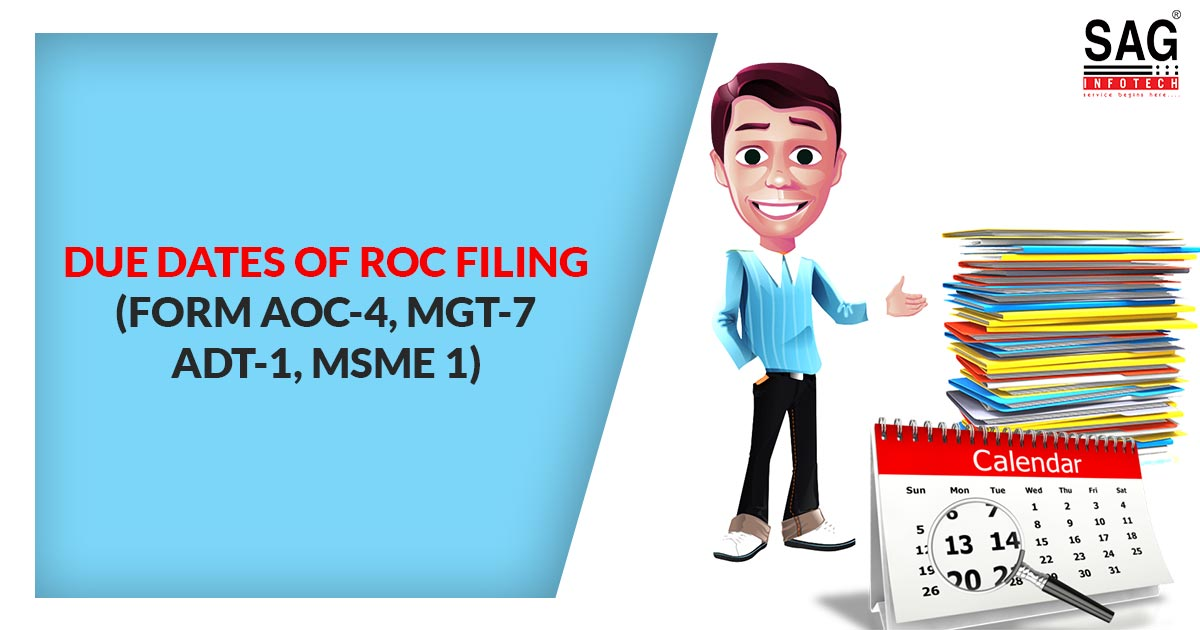 Due Dates of Filing ROC Annual Return for FY 2019-20 | SAG Infotech