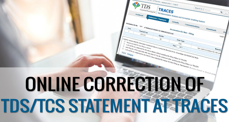 Online Correction of TDS/TCS Statement at TRACES   SAG Infotech