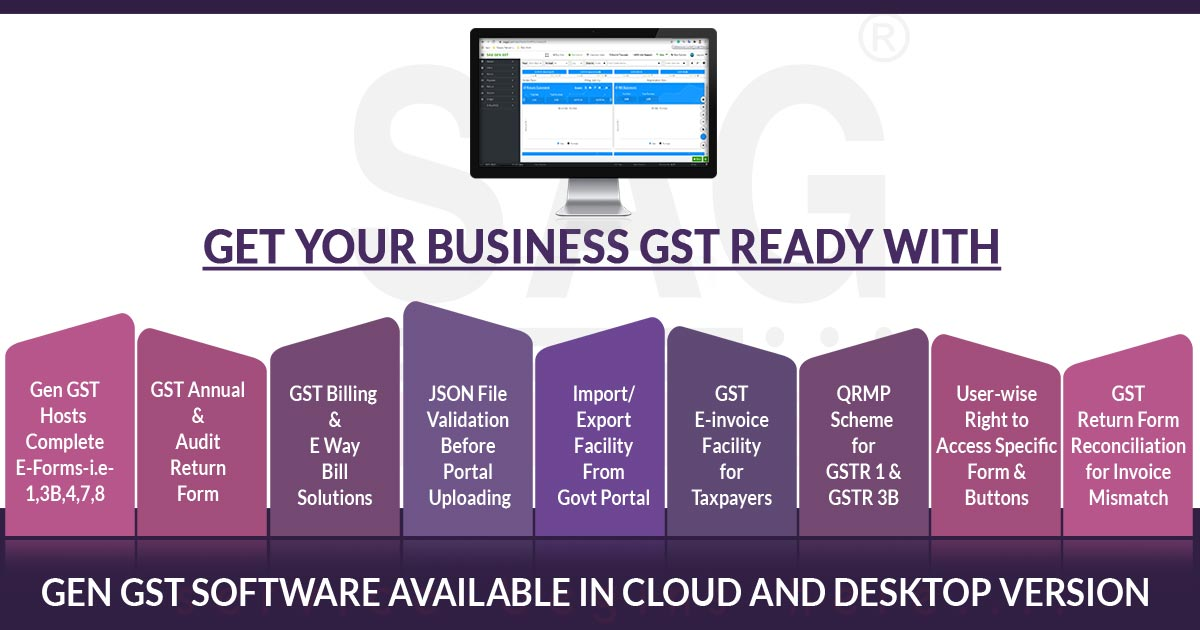Free Download Gen GST Software FY 2019-20 for E-Filing & Billing