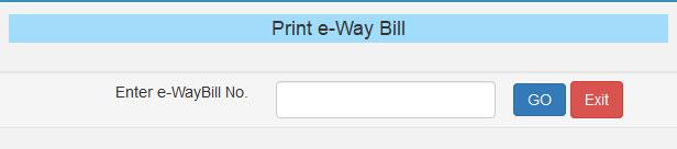 E Way Bill Form Entry