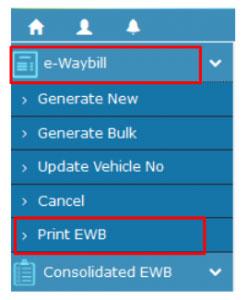 E Way Bill Print WEB