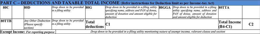 ITR 1 Form Filing Part C