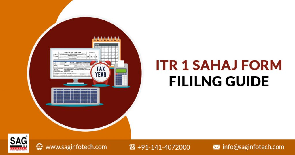 How to File ITR 1 Sahaj Form Online for AY 2020-21 (Easily) | SAG Infotech