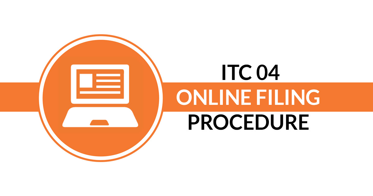 All About Itc 04 Filing Online With Itc Process On Job Work Sag