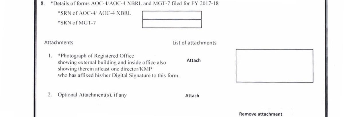 MCA E-form INC-22A Part 8