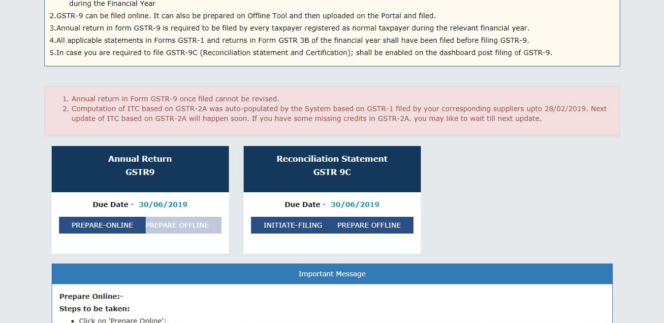 How to Preview GSTR 9 Draft in Excel Format on GST Portal