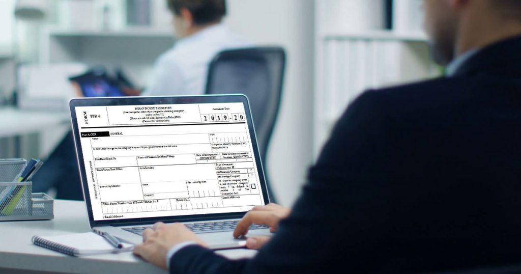 ITR 6 Form Filing Online