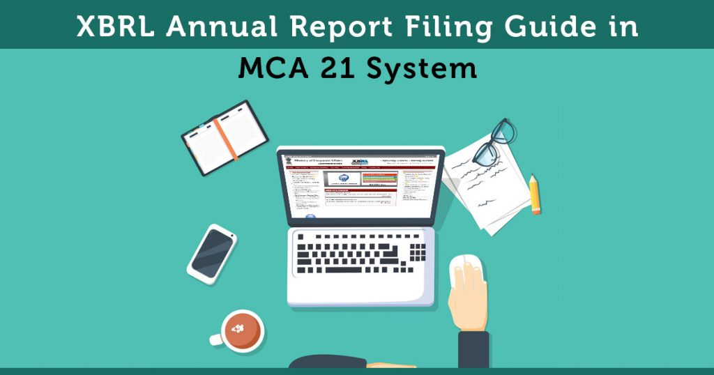 File XBRL Annual Report in MCA 21 System