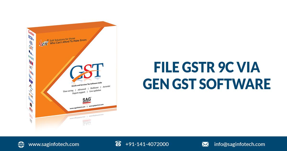 How to File GSTR 9C Annual Audit Form via Gen GST Software V2 0