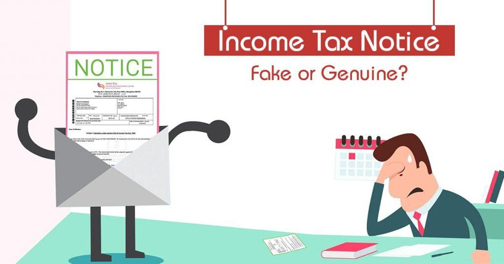 Income Tax Notice Fake or Genuine