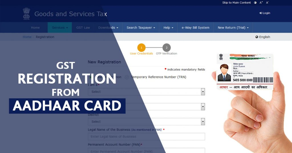 GST Registration from Aadhaar Card