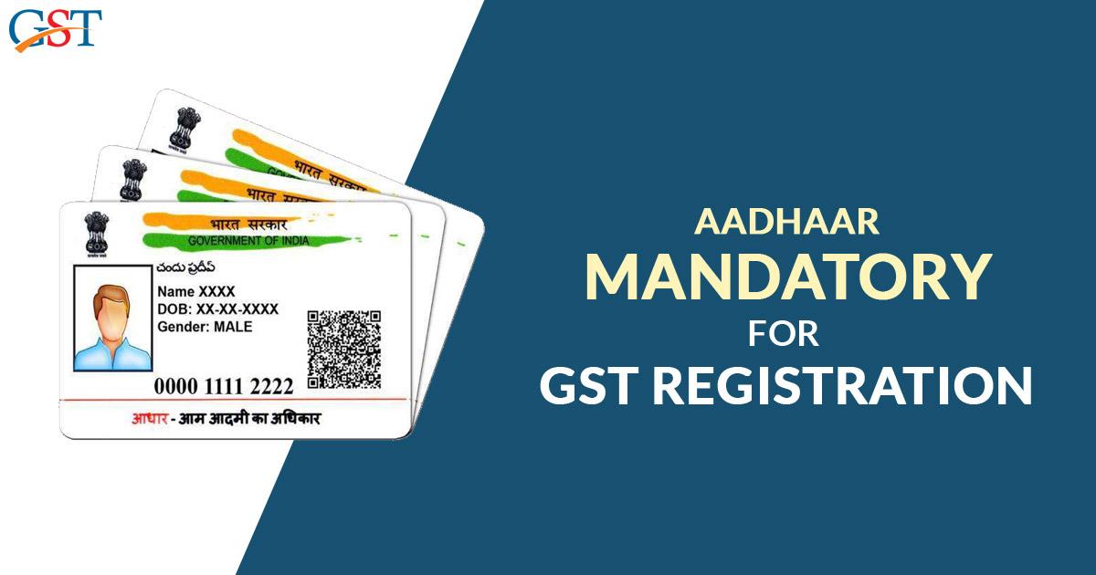 Aadhaar for GST Registration
