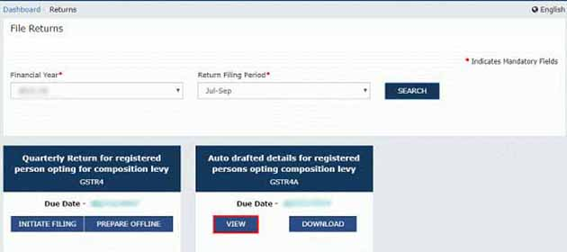 View auto draft details