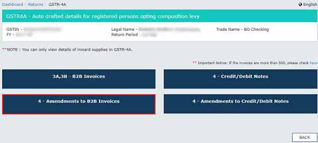 4 - Amendments to B2B Invoices